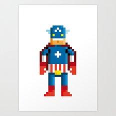 Pixelman America Art Print