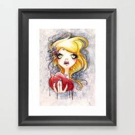 Ripped Heart Framed Art Print