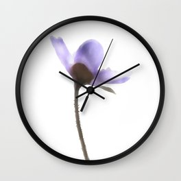 Flowers Anemone Hepatica reaching for the sun Wall Clock