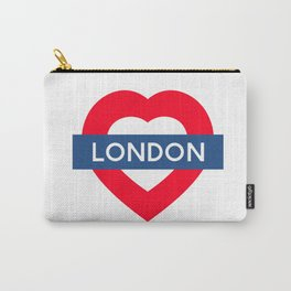 London Underground - Heart Carry-All Pouch