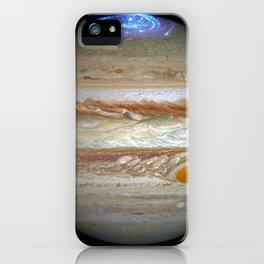 1207. Hubble Captures Vivid Auroras in Jupiter's Atmosphere iPhone Case
