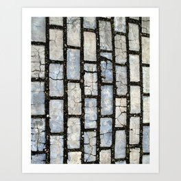 Blue Street Grid Art Print