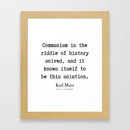 15  | Karl Marx Quotes | 190817 Framed Art Print