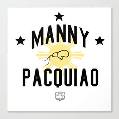 Manny Pacquiao Training Light Canvas Print