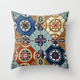 DESEO spanish tiles Throw Pillow