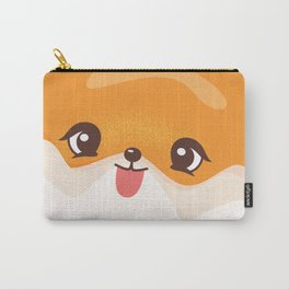Yellow Pomeranian - Dog Lovers Kids Poster Carry-All Pouch