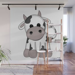 Cuddly Cow Wall Mural