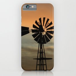 Kansas colorful Sunset out in the country. iPhone Case