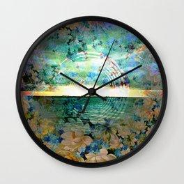 Floral Ocean Kaliedoscope Wall Clock