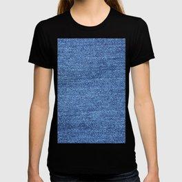 blue denim T-shirt