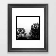 Morning fog. Framed Art Print