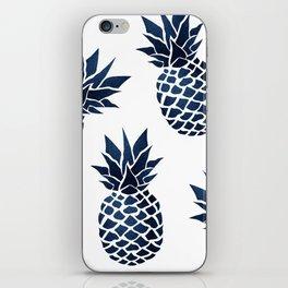 Pineapple Blue Denim iPhone Skin