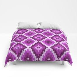 Kilim violet , purple, lilac, bohemian, Comforters