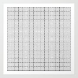 Grid White and Black Art Print