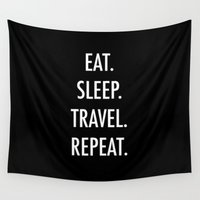 eat Wall Tapestries featuring Eat by I Love Decor