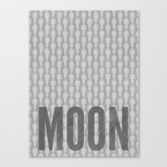 Moon Minimalist Poster Canvas Print