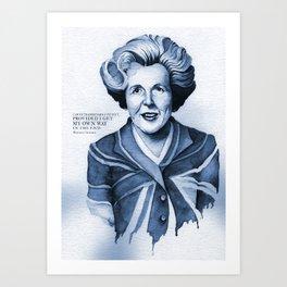 Margaret Thatcher My Way Quote Art Print