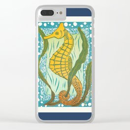 Sea Horse WSBPI Navy Clear iPhone Case