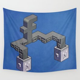 The powerful tentacles of Facebook — pixel art Wall Tapestry