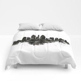Cincinnati Skyline Black and White Comforters