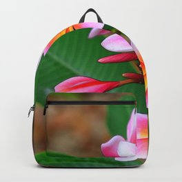 Plumeria Floral Art - Tropical Queen - Sharon Cummings Backpack