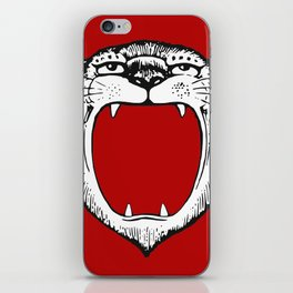 Tiger Head Red iPhone Skin
