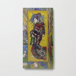"Vincent van Gogh, "" Courtesan- after Eisen "" Metal Print"