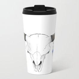 Skull with Feathers Metal Travel Mug