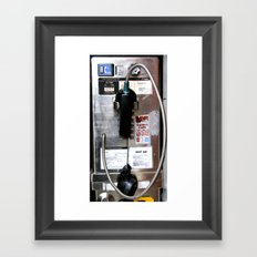 Pay Phone VIII Framed Art Print