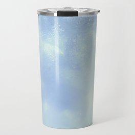 White Foam Plastic Texture Travel Mug