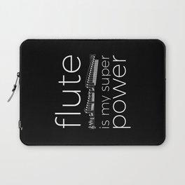 Flute is my super power (black) Laptop Sleeve