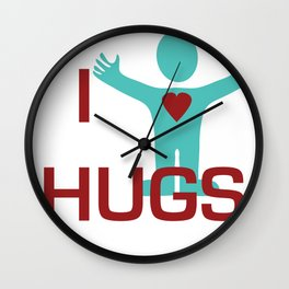 I heart Hugs Wall Clock