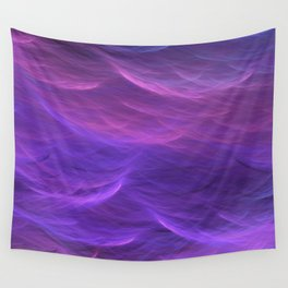 Pink and Purple Ultra Violet Soft Waves Wall Tapestry