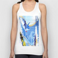 snowboarding Tank Tops featuring Snowboarding by Tami Cudahy