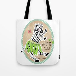 Change the World with a Smile Tote Bag