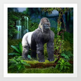 Silverback Gorilla Guardian of the Rainforest Art Print
