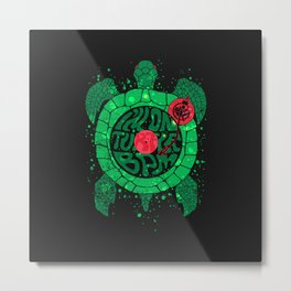 Turtle BPM Metal Print