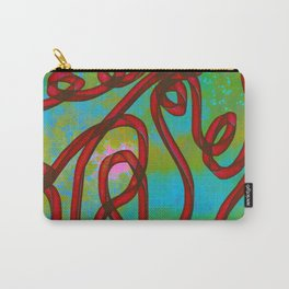 """""""Galactic Ribbon"""" (Cherry/Lime) Digital Painting // Fine Art Print Carry-All Pouch"""