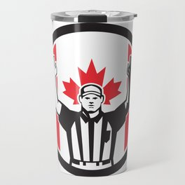Canadian Football Referee Canada Flag Icon Travel Mug