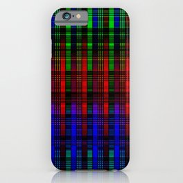 Abstract, multi-color, plaid iPhone Case