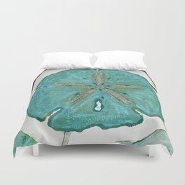 Sand Dollars Ocean Colors Duvet Cover