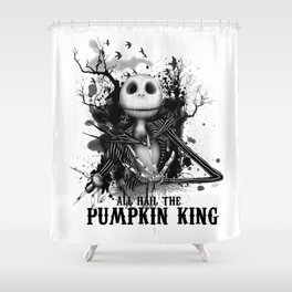 All Hail the Pumpkin King Shower Curtain