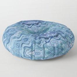 Abstract Blue Wave Design 683 Floor Pillow