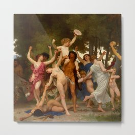 """William-Adolphe Bouguereau """"The Youth of Bacchus"""" Metal Print"""