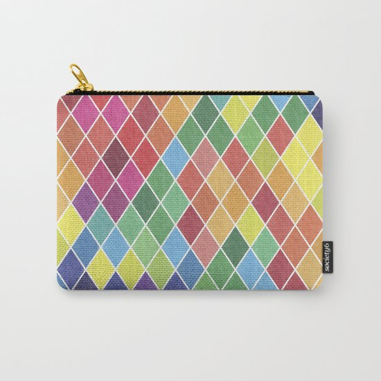 Watercolor Geometric Pattern II Carry-All Pouch
