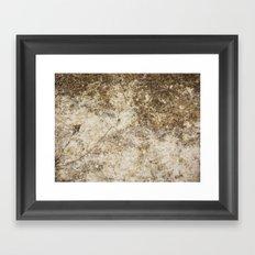 Old and Cracked Framed Art Print