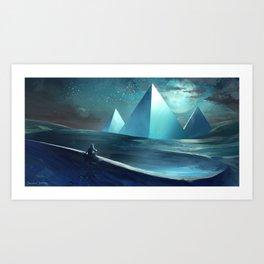 Paulo Coelho's The Alchemist - Pyramids at Giza Art Print