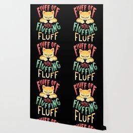 Fluff You Fluffin Fluf Funny Angry Cat Kitten Shirt Men Kids Gift Wallpaper