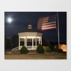 Stage Fort Park at night Canvas Print