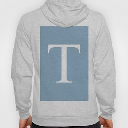 Letter T sign on placid blue background Hoody